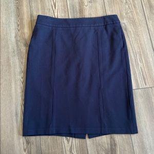 Talbots Navy Pencil Skirt Size 4